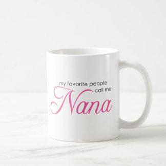 Mitt favorit- folk appell mig Nana Vit Mugg