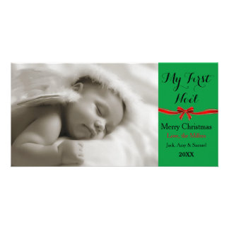 Mitt första kort för Noel julfoto