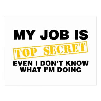 Mitt jobb är bästa - hemligheten vykort