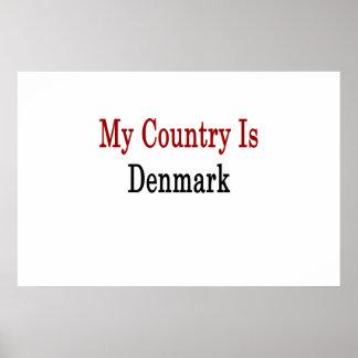 Mitt land är Danmark Print