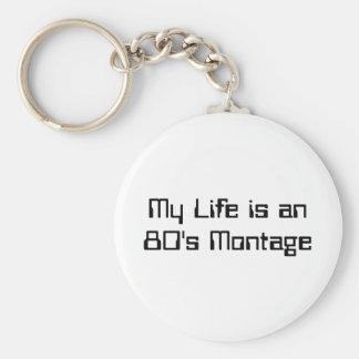 Mitt liv är en 80-talMontage Rund Nyckelring