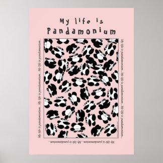 Mitt liv är pandaen-monium poster