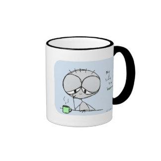 mitt liv är så borra - kaffekoppen ringer mugg