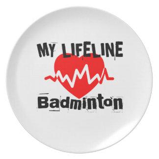 Mitt liv fodrar Badmintonsportdesigner Tallrik