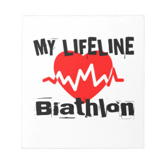 Mitt liv fodrar Biathlonsportdesigner Anteckningsblock