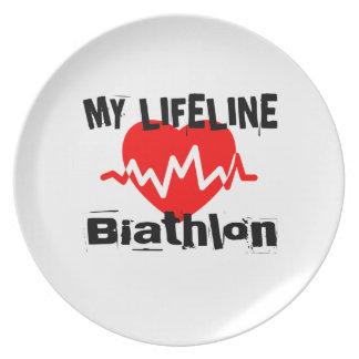 Mitt liv fodrar Biathlonsportdesigner Tallrik