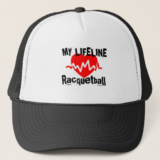 Mitt liv fodrar Racquetballsportdesigner Keps