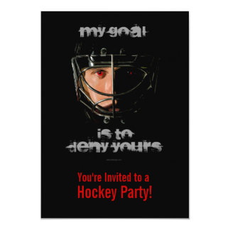 Mitt mål (hockeygoalien) 12,7 x 17,8 cm inbjudningskort