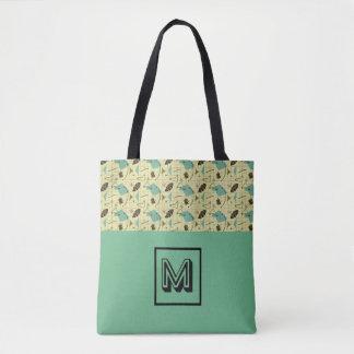 Mitt- Monogram Totebag för modern design för Tygkasse