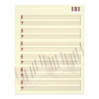 Mitt musikmanuskript brevhuvud