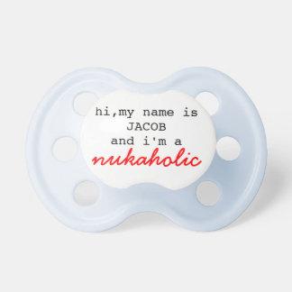 Mitt namn är….,och I-förmiddag ett nukaholic - Napp