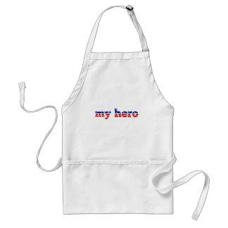 Mitt patriotiska rött vitt blått för hjältestars o förkläde