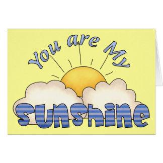 Mitt solskenfödelsedagkort hälsningskort