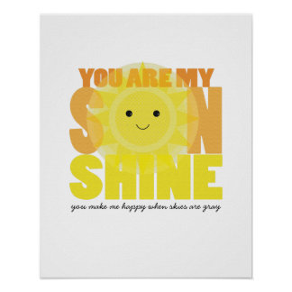 Mitt tryck för konst för solskenUNGERUM Poster