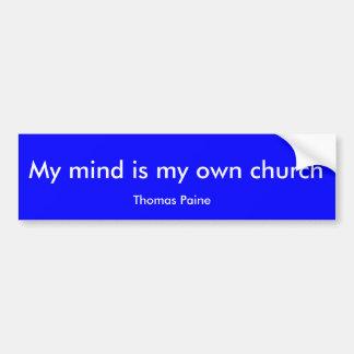 Mitt vara besvärad är min egna kyrka, Thomas Paine Bildekal