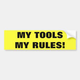 Mitt verktyg min regler bildekal