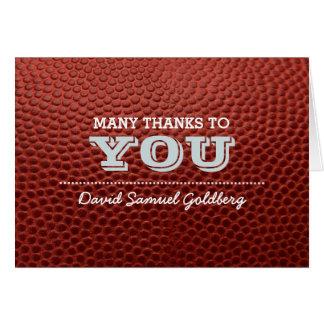 Mitzvah för fotbollsilverpub tackkort OBS kort