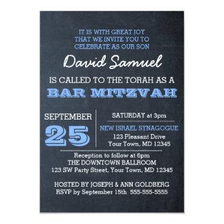 Mitzvah för svart tavlablåttpub inbjudan