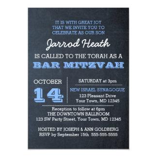Mitzvah för svart tavlablåttpub inbjudan ingen