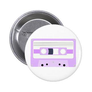 Mixtape - pastellfärgad lila standard knapp rund 5.7 cm
