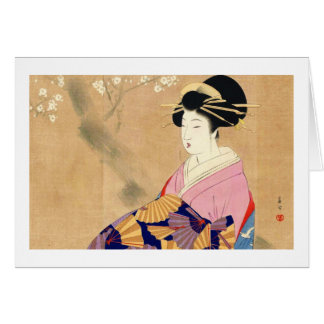 Miyagawa Shuntei Oiran japansk ukiyo-ekonst OBS Kort