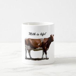 Mjölk är liv! vit mugg