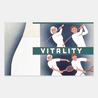 Mjölk - för vård- bra tänder, vitalitet, rektangulärt klistermärke