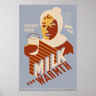 Mjölk för värme poster