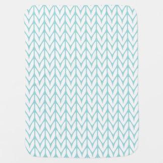 Mjuk anpassade för mönster för sticka för bebisfilt