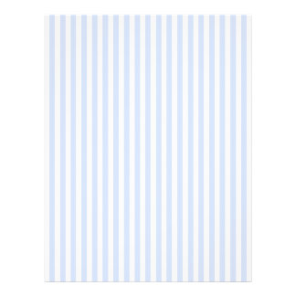 Mjuk baby blue blek himmelblått- och vitrand reklamblad 21,5 x 30 cm
