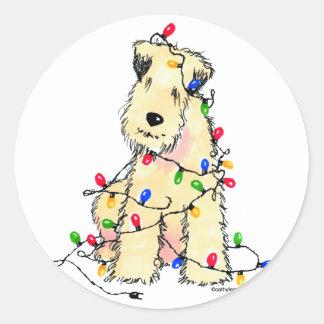 Mjuk bestruken Wheaten Terrier - jul Runt Klistermärke