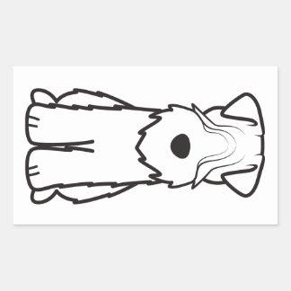 Mjuk bestruken Wheaten Terrier Rektangulärt Klistermärke