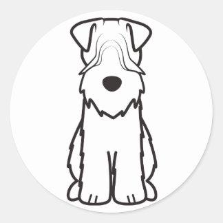 Mjuk bestruken Wheaten Terrier Runt Klistermärke