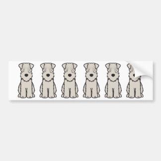 Mjuk bestruken Wheaten Terrierhundtecknad Bildekal