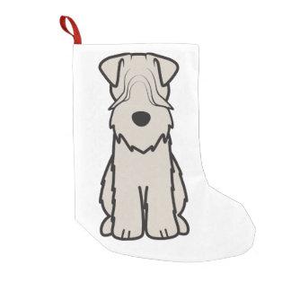 Mjuk bestruken Wheaten Terrierhundtecknad Liten Julstrumpa