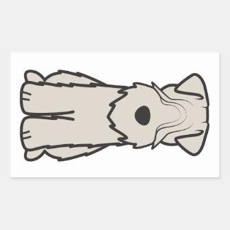 Mjuk bestruken Wheaten Terrierhundtecknad Rektangulärt Klistermärke
