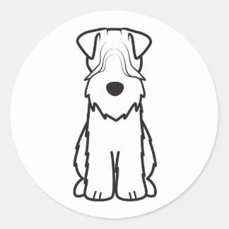Mjuk bestruken Wheaten Terrierhundtecknad Runt Klistermärke