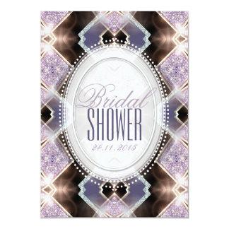 Mjuk lila glitterPrincess möhippa 12,7 X 17,8 Cm Inbjudningskort