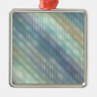 Mjuk pastellabstrakt julgransprydnad metall