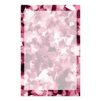 Mjuk rosa Kawaii hjärtabakgrund Brevpapper