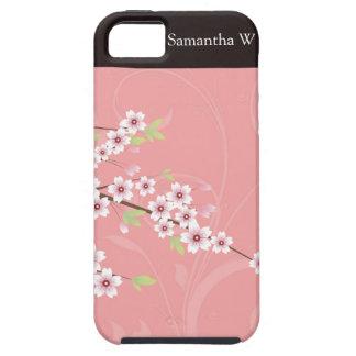 Mjuk rosa körsbärsröd blommar iPhone 5 Case-Mate skal
