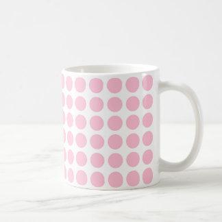 Mjuk rosa polka dotsmugg vit mugg