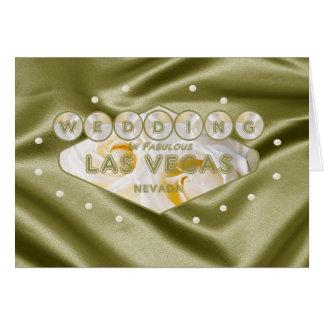 Mjuk satängvit gul ros som GIFTA SIG i Las Vegas Hälsningskort