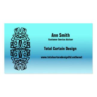 Mjuk turkos och deppighet svart grafisk Business/c Set Av Standard Visitkort