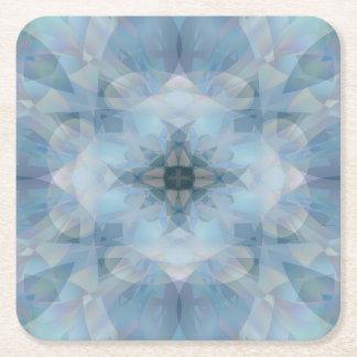 Mjuka blommor underlägg papper kvadrat