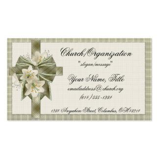 Mjuka gröna visitkortar för plädkor w/Flowers