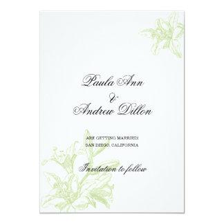 Mjuka liljar 12,7 x 17,8 cm inbjudningskort