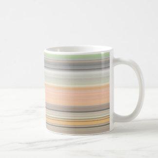 Mjukt pastellfärgat randmönster kaffemugg