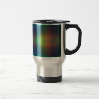 Mjukt regnbågeljus kvadrerar abstrakt design rostfritt stål resemugg