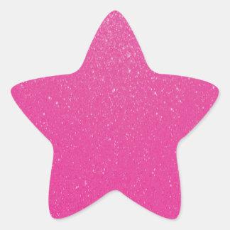 Mjukt sött rosaglitter stjärnformat klistermärke